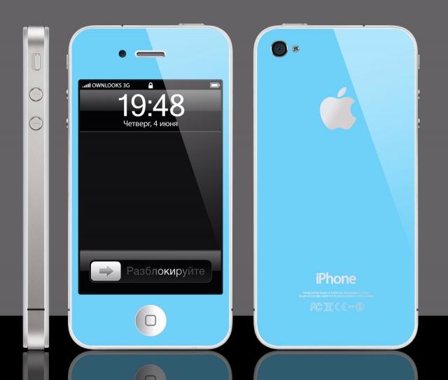 замена корпуса iphone 4s на цветной